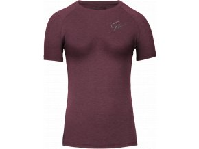 holly t shirt burgundy red