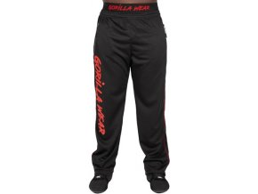 mercury mesh pants black red