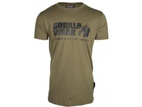 classic t shirt army green pop1