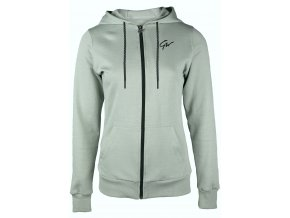 91807400 pixley zipped hoodie light green 01