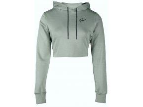 pixley crop hoodie green pop1