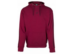 Banks Oversized Hoodie-burgundy red/black.