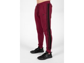 90961590 banks pants burgundy red black 6