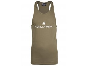 90130400 carter stretch tank top army green 01