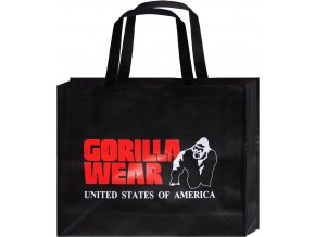 non woven gorilla wear bag black red large 10 pieces poly pack