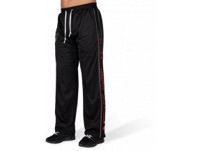 functional mesh pants black red
