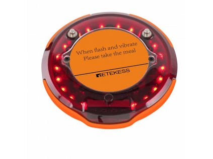 TD156 long range paging system coaster pager beeper vibration flash