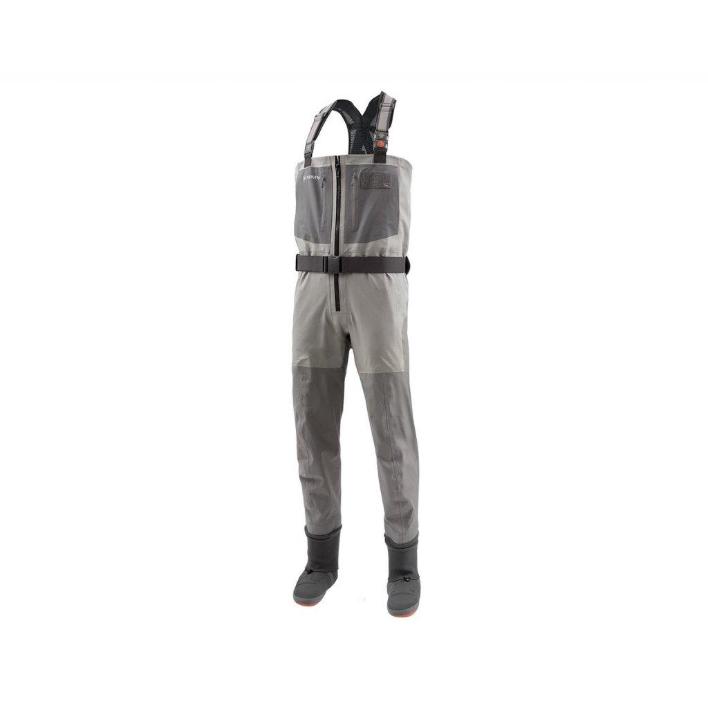 Brodící kalhoty Simms G4Z Stockingfoot (Barva Gunmetal, Materiál GORE-TEX® Pro Shell, Velikost XXL)