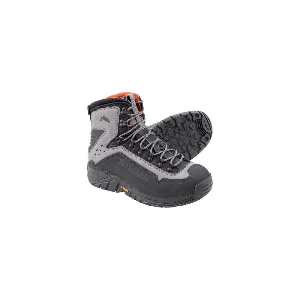 Brodící boty Simms G3 Guide Boot - podrážka Vibram (Barva Šedá, Materiál Kominace syntetiky s neoprenem, Velikost 9)