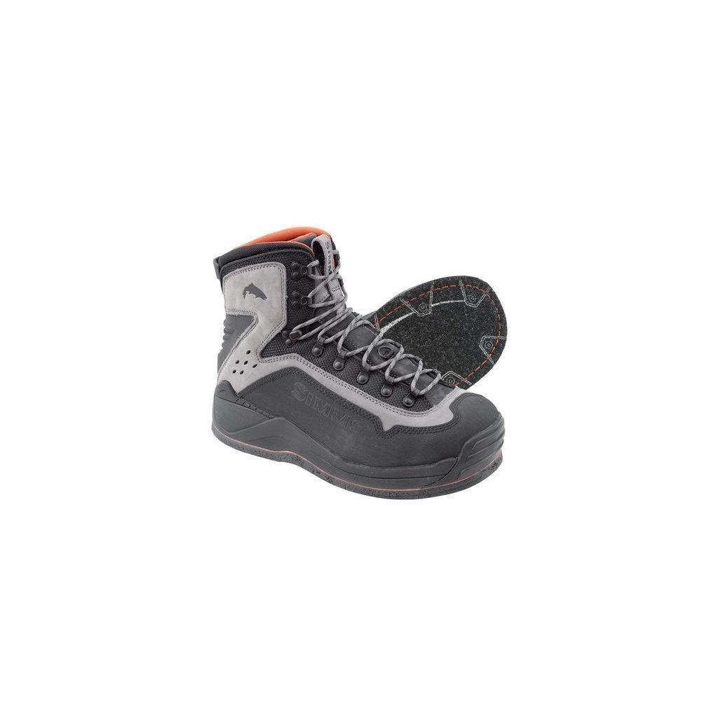 Brodící boty Simms G3 Guide Boot - podrážka s filcem (Barva Šedá, Materiál Kominace syntetiky s neoprenem, Velikost 9)