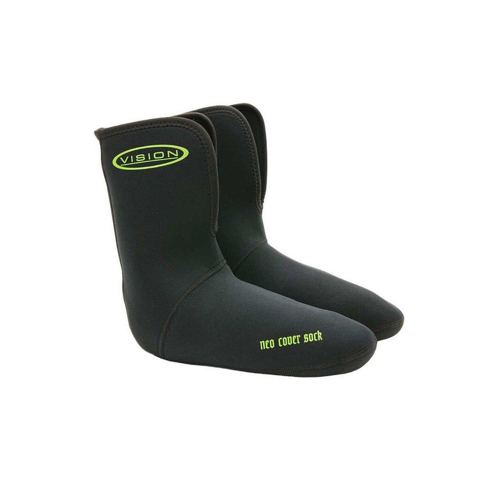Ponožky VISION Neoprene cover sock (Barva Černá, Materiál Neopren, Velikost XXL)