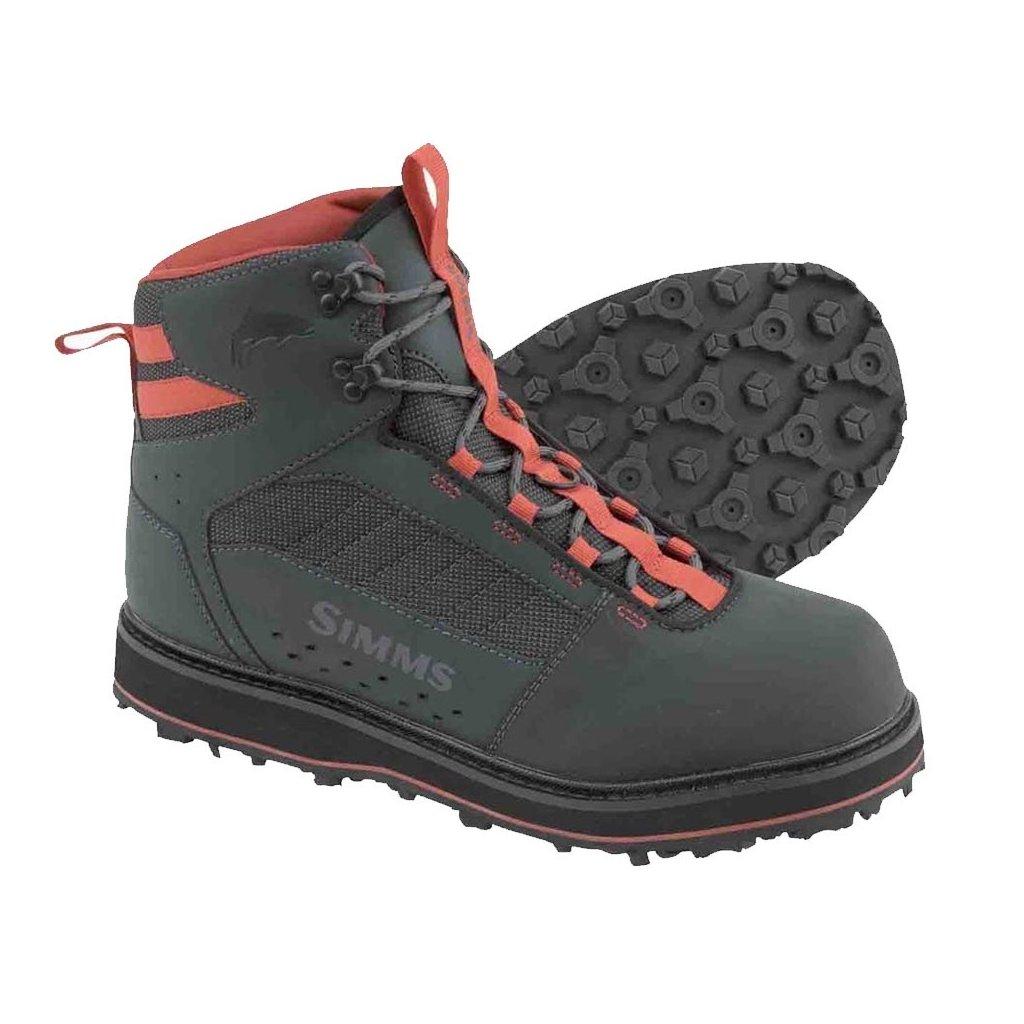 Brodící boty Simms Tributary Boot - podrážka s filcem (Barva Karbonová, Materiál Kombinace syntetiky s neoprenem, Velikost 9)
