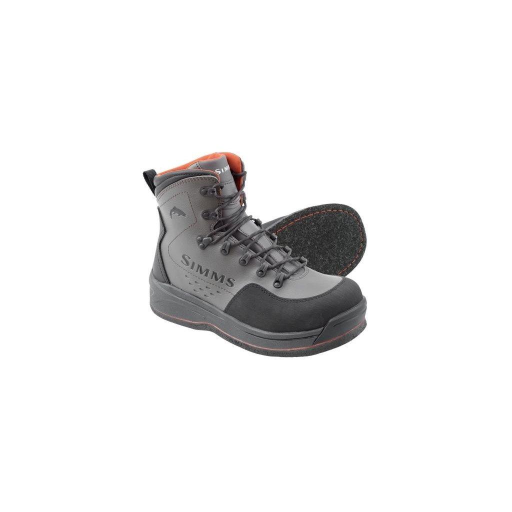 Brodící boty Simms Freestone Boot - podrážka s filcem (Barva Šedá, Materiál Kominace syntetiky s neoprenem, Velikost 15)