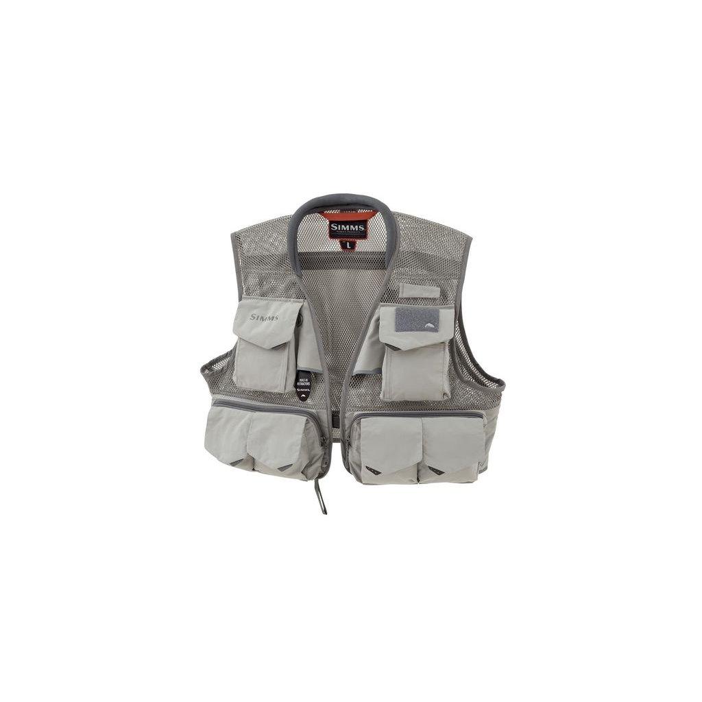 Rybářská vesta Simms Headwaters Pro Mesh Vest (Barva Steel, Materiál 100% Nylon s DWR zakončením; 100% polyester, Velikost XXL)
