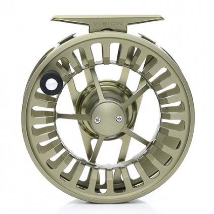 Muškařský navijáv VISION XLV (AFTM 8-9, Barva stříbrnozelená)