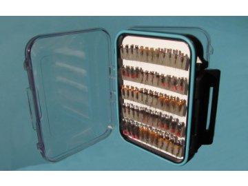 Říční vodotěsná krabička s muškami - VELKÁ