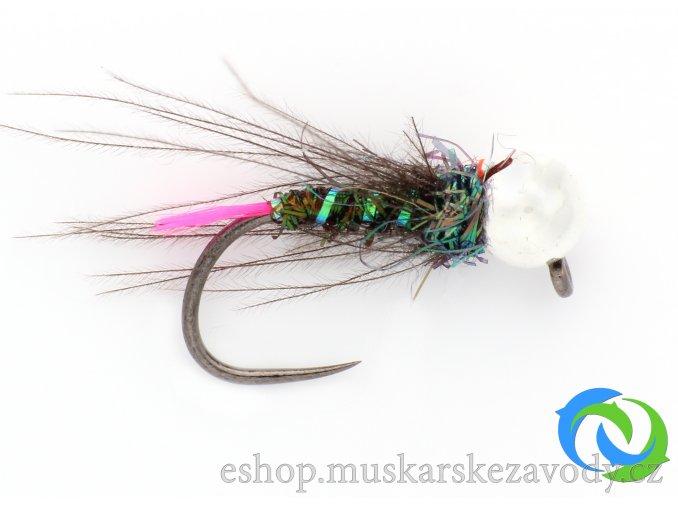Modrý killer - pink tip - silver