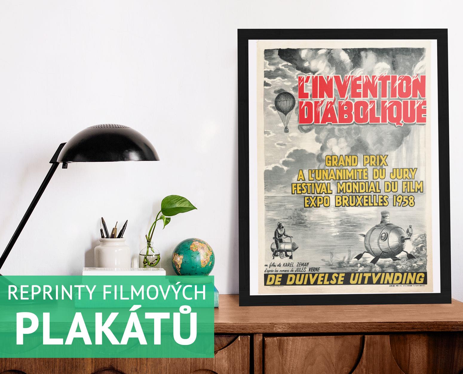 Reprinty plakátů s motivy z filmů Karla Zemana