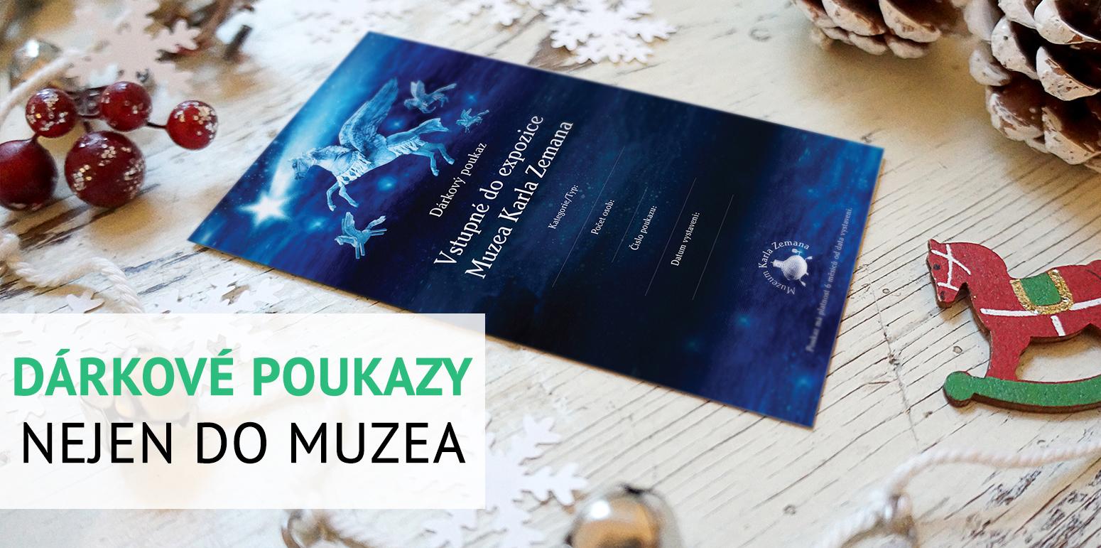 Dárkové vstupenky a poukazy do Muzea Karla Zemana