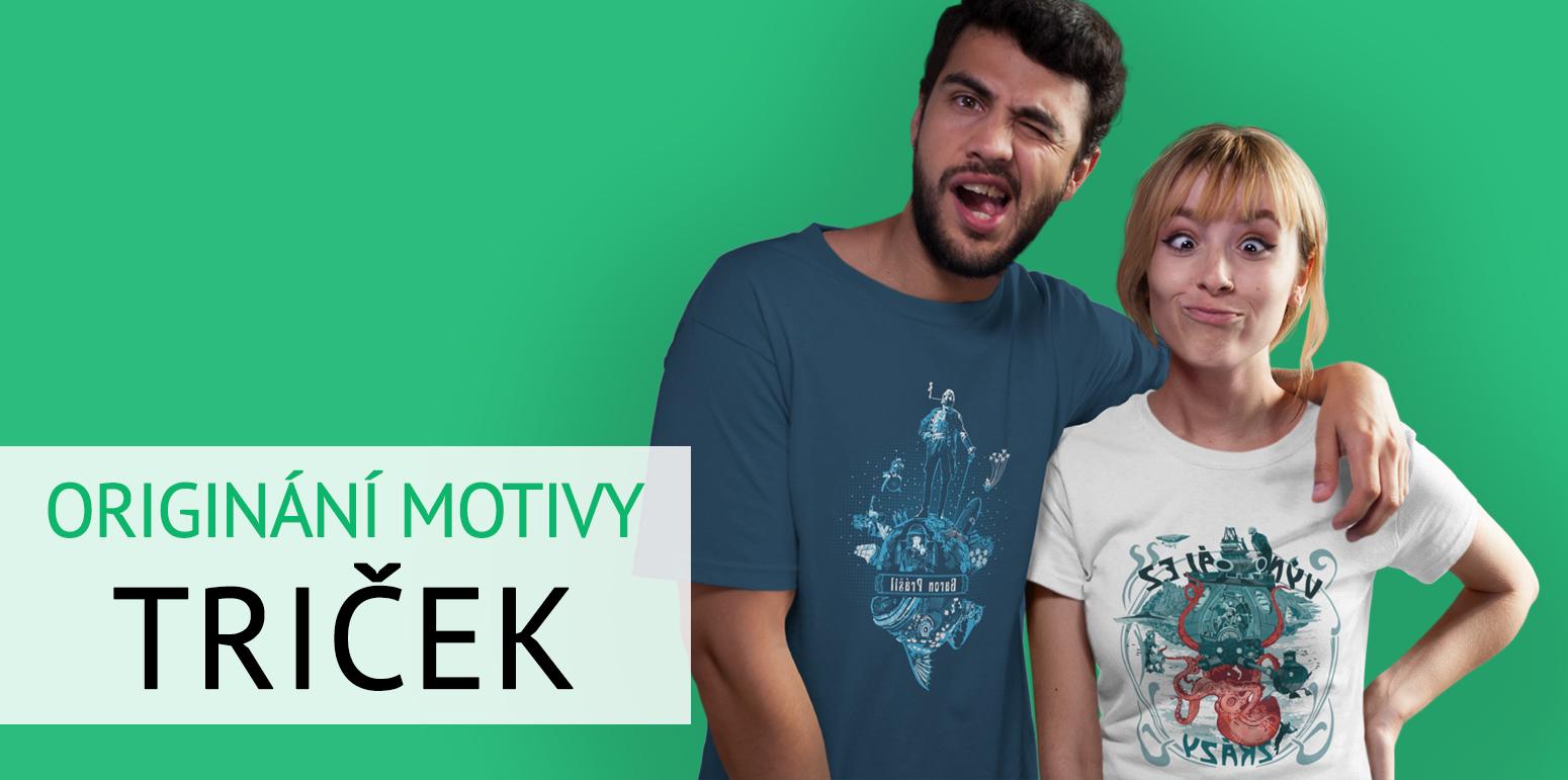 Originální motivy triček