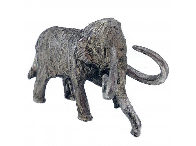 Cínová figurka mamut