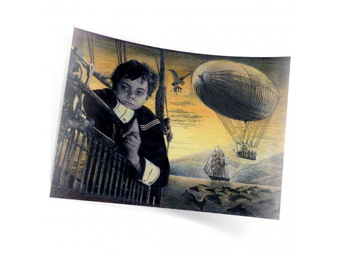 Plakát Ludmila Zemanová Ukradená vzducholoď