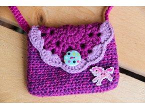 Mini kabelka - růžový koník