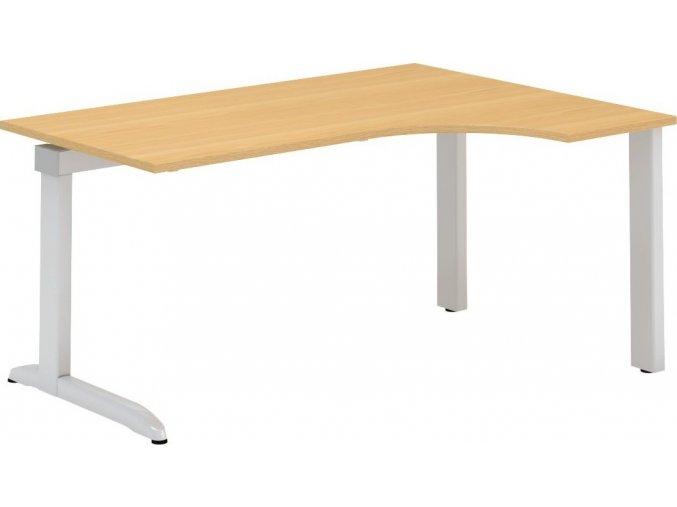 Interiér Říčany stůl pracovní pravý Alfa 320 120x180 (LTD ALFA BÍLÁ)