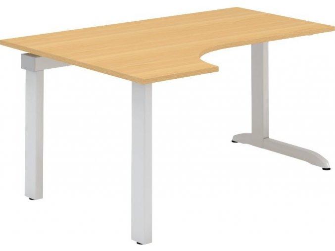 Interiér Říčany stůl pracovní levý Alfa 321 120x180 (LTD ALFA BÍLÁ)