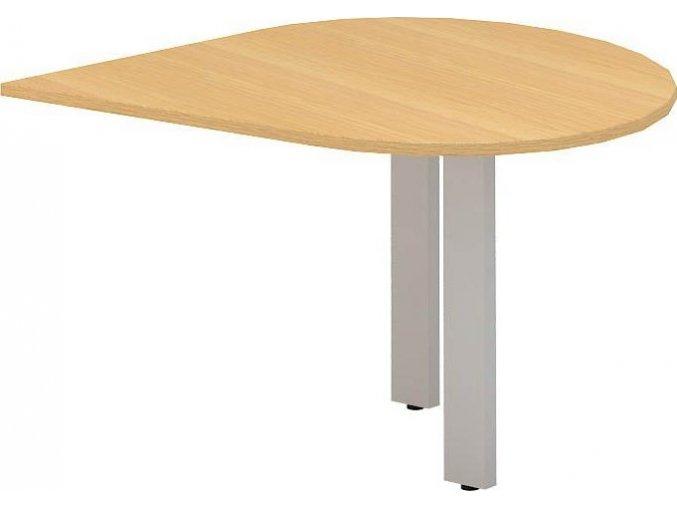 Interiér Říčany stůl pracovní levý Alfa 300 120x120 (LTD ALFA BÍLÁ)