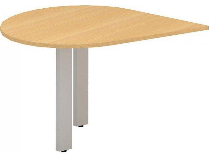 Interiér Říčany stůl pracovní pravý Alfa 300 120x120 (LTD ALFA BÍLÁ)