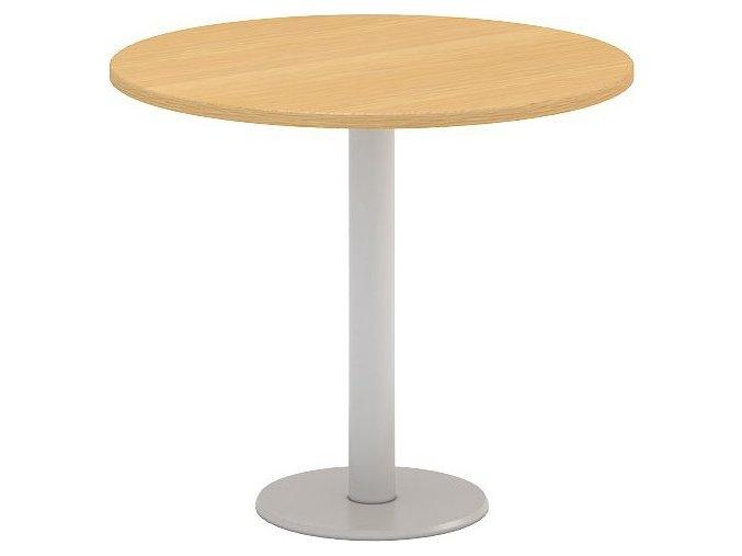 Interiér Říčany stůl pracovní jednací Alfa 407 průměr 90 (LTD ALFA BÍLÁ)