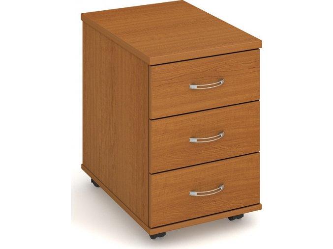 Office pro HOBIS kontejner K 23 N - 3 zásuvky napríc 60cm (LTD DESKY HOBIS ŠEDÁ, LTD KORPUS HOBIS ŠEDÁ, ÚCHYTKY HOBIS USH)