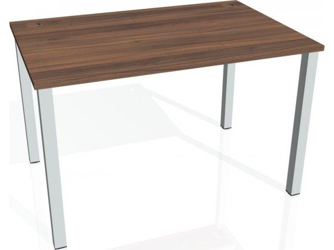 Office pro HOBIS UNI -US 1200 - Stůl pracovní rovný 120 cm (BARVA NOHY BÍLÁ, LTD DESKY HOBIS ŠEDÁ)