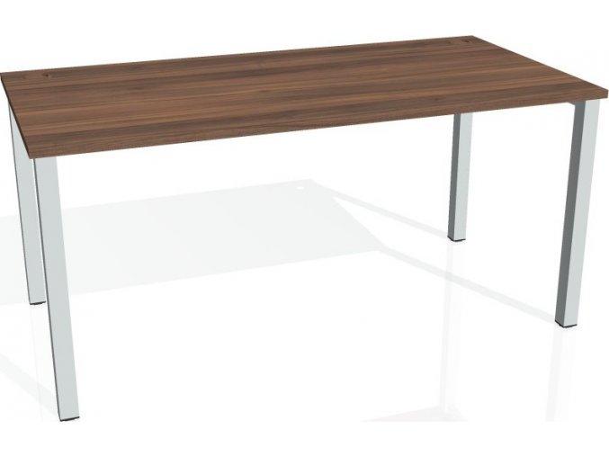 Office pro HOBIS UNI - UJ 1600 - Stůl jednací rovný 160cm (BARVA NOHY BÍLÁ, LTD DESKY HOBIS ŠEDÁ)