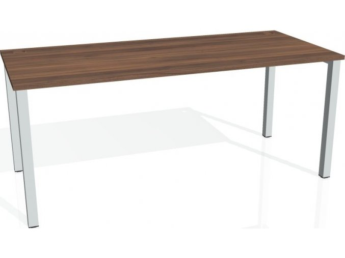 Office pro HOBIS UNI - UJ 1800 - Stůl jednací rovný 180cm (BARVA NOHY BÍLÁ, LTD DESKY HOBIS ŠEDÁ)