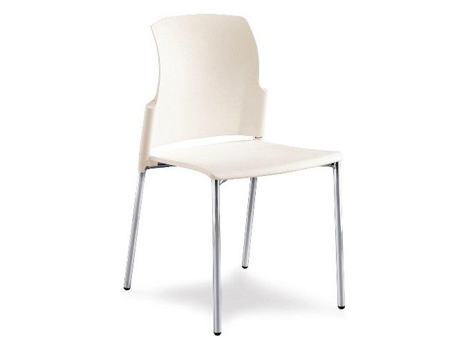 Mayer židle pracovní plastová 25C1 01 CHROM P01 černá (kostra MEDI 08 STŘÍBRNÁ, plast MEDI 08 STŘÍBRNÁ)
