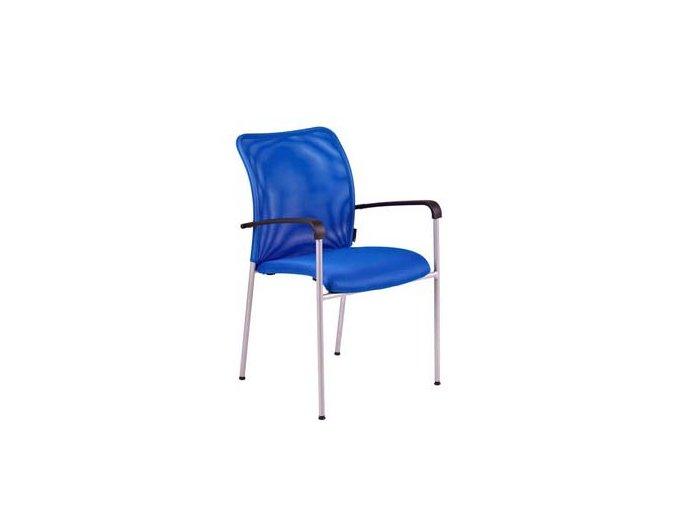 TRITON GREY.DK 90 modrá, židle jednací