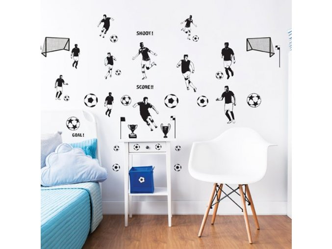 Football Wall Stickers Bedroom Scene 44906 600x595