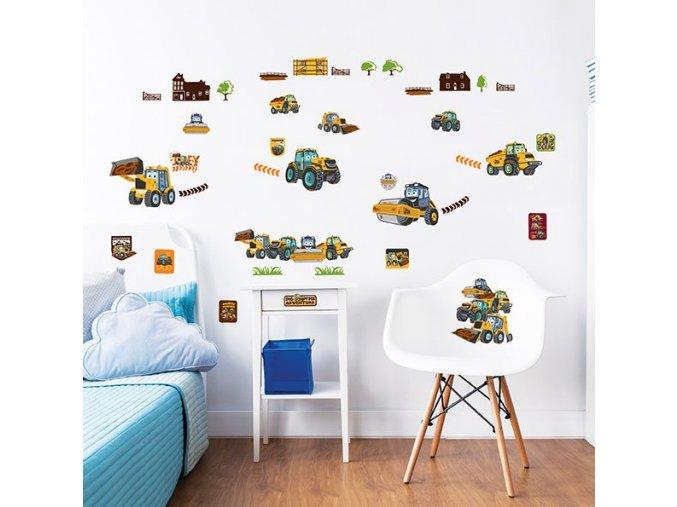 My First JCB Wall Stickers Bedroom Scene 44722 600x595