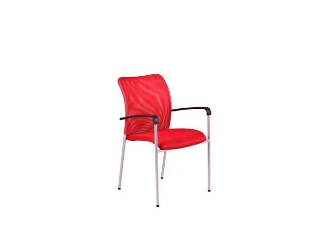 TRITON GREY.DK 13 červená, židle jednací