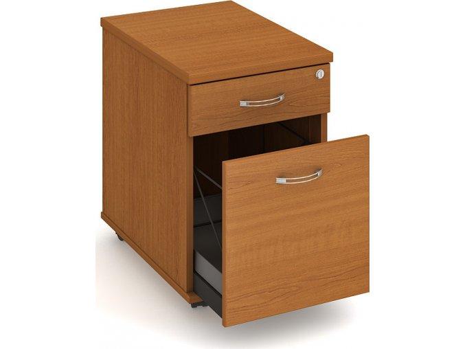 Office pro HOBIS kontejner K 22 ZSC N 2 zásuvky napríc 60 cm (LTD DESKY HOBIS ŠEDÁ, LTD KORPUS HOBIS ŠEDÁ, ÚCHYTKY HOBIS UCO)