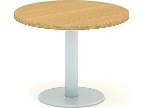 Interiér Říčany stůl pracovní jednací Alfa 408 průměr 70 (LTD ALFA BÍLÁ)