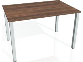 Office pro HOBIS UNI - UJ 1400 - Stůl jednací rovný 140cm (BARVA NOHY BÍLÁ, LTD DESKY HOBIS ŠEDÁ)