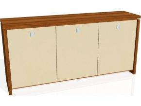 Office pro Exner Skříň ASSIST třídveřová, skleněné dveře A 2 3 01 (LTD EXNER OŘECH, sklo EXNER hnědá)