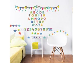 ABC Learn With Me Wall Stickers Bedroom Scene 44920 600x595