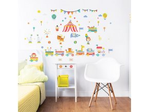 Circus Wall Stickers Bedroom Scene 44968 600x595