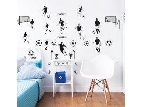 Football Wall Stickers Bedroom Scene 44906 600x595