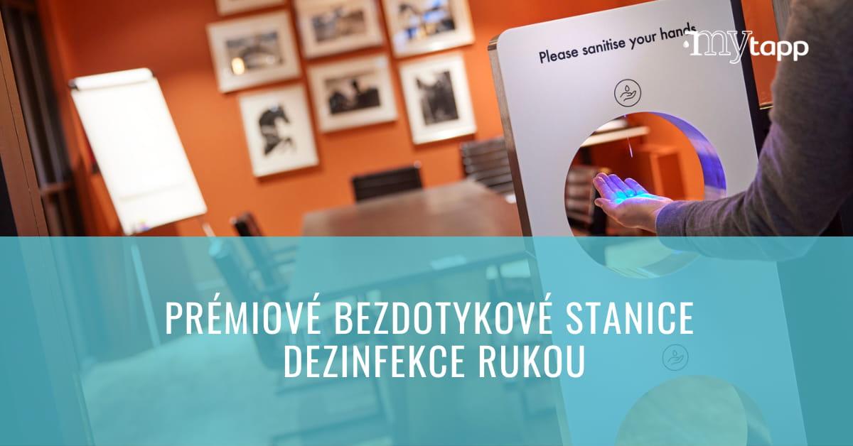 Novinka: Prémiové automatické stanice pro dezinfekci rukou