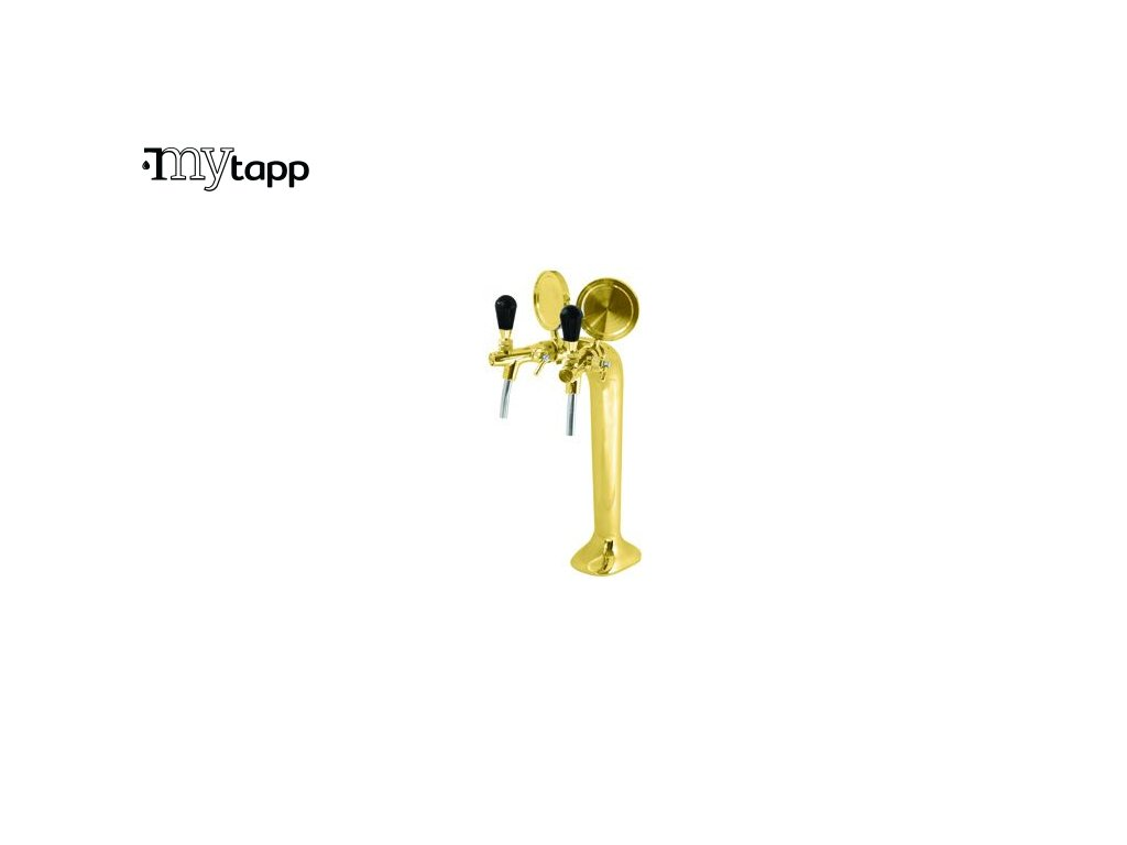COBRA 2 - výčepní stojan s dvěma kohouty - zlatý